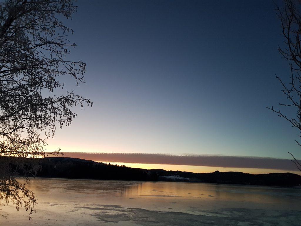 Leksdalsvatnet fra Steinkjergrensa. Foto: Gina Marie Larsen