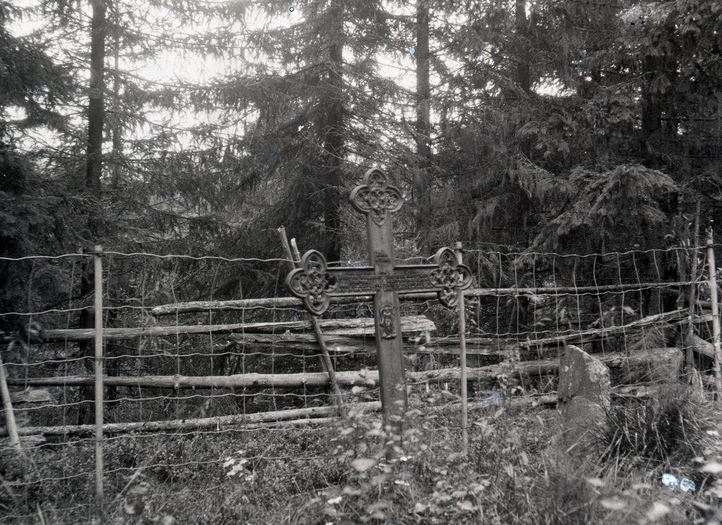 Klüwers gravsted ved Bunes 1922. Utlånt av Stiklestad Nasjonale Kultursenter.